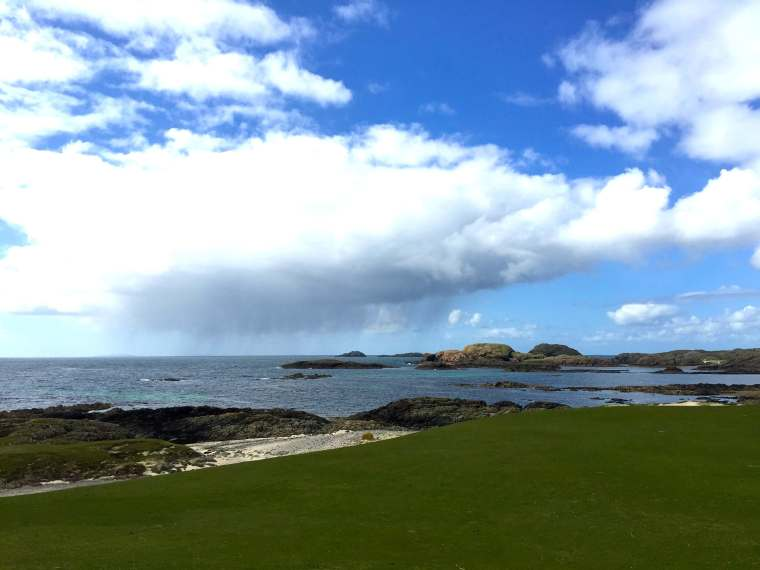 Rain coming in from the sea - Iona