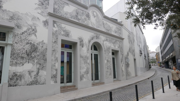painted building facade in porto